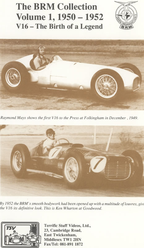 The BRM Collection (Volume One 1950-52)